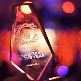 Estudio 20 Gano el mejor Webcam estudio del año en los premios AW 2016