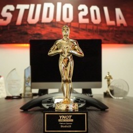 The #girlsfromstudio20 get the trophies at YNOT Cam Awards Los Angeles 2018